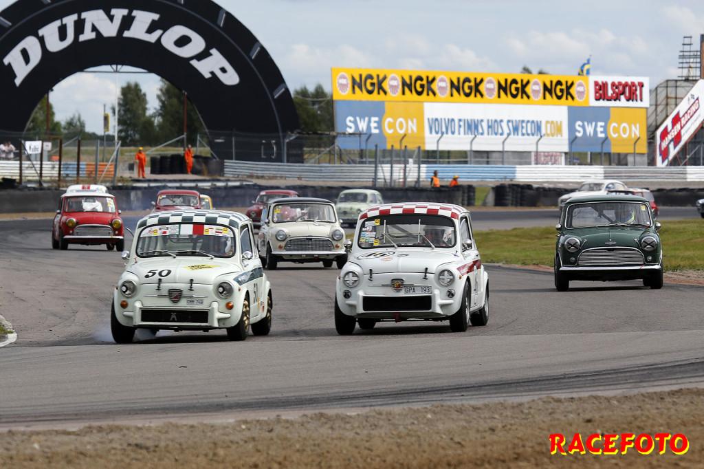 Bromsduell i 1000cc Cupen mellan Reinhold Daubner (#50) och Per Skårner (#46).